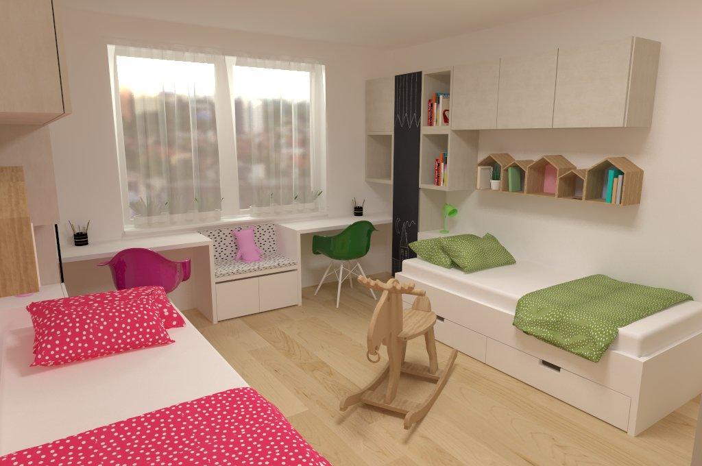 Návrh interiéru kreatívnej detskej izby