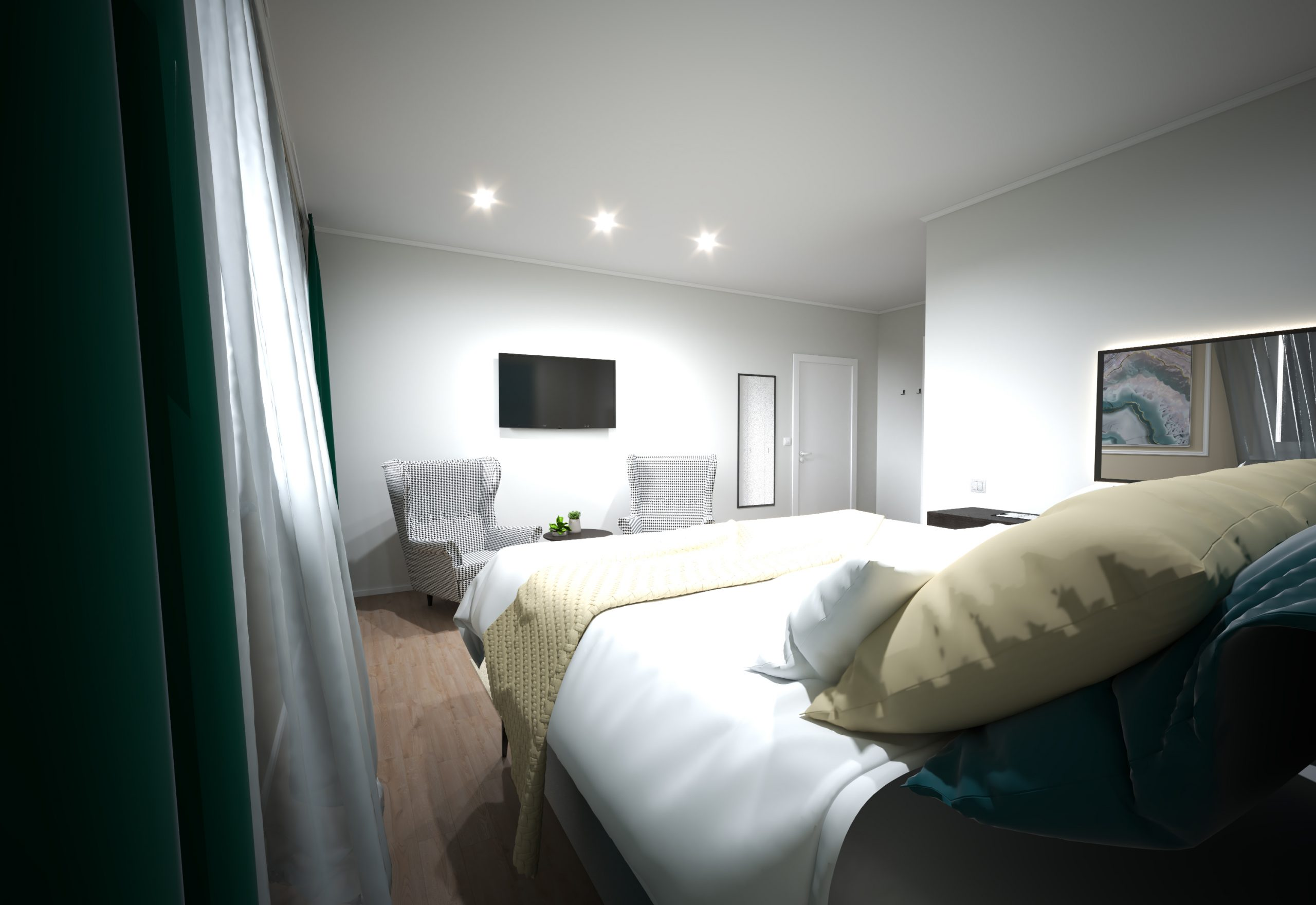 2 Návrh interiéru pre Hotel - Trenčianske Teplice