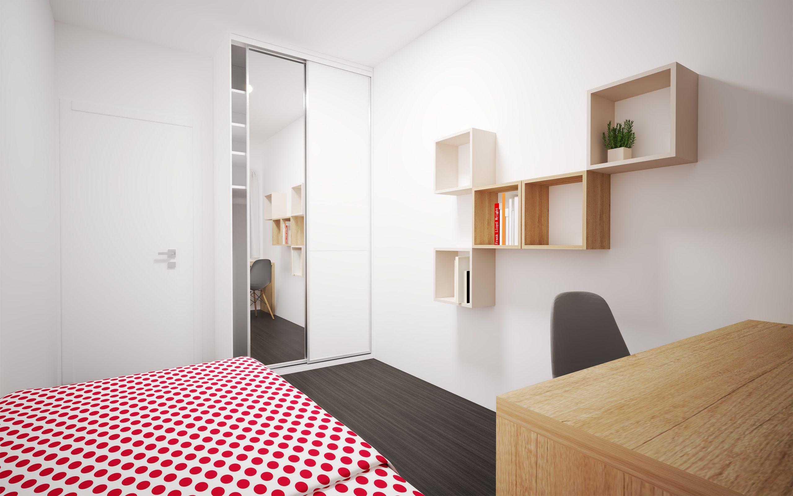 Návrh interiéru hosťovskej/detskej izby