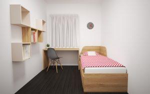 interiérový dizajn_vizualizácia_hosťovská izba_BYVAKOM