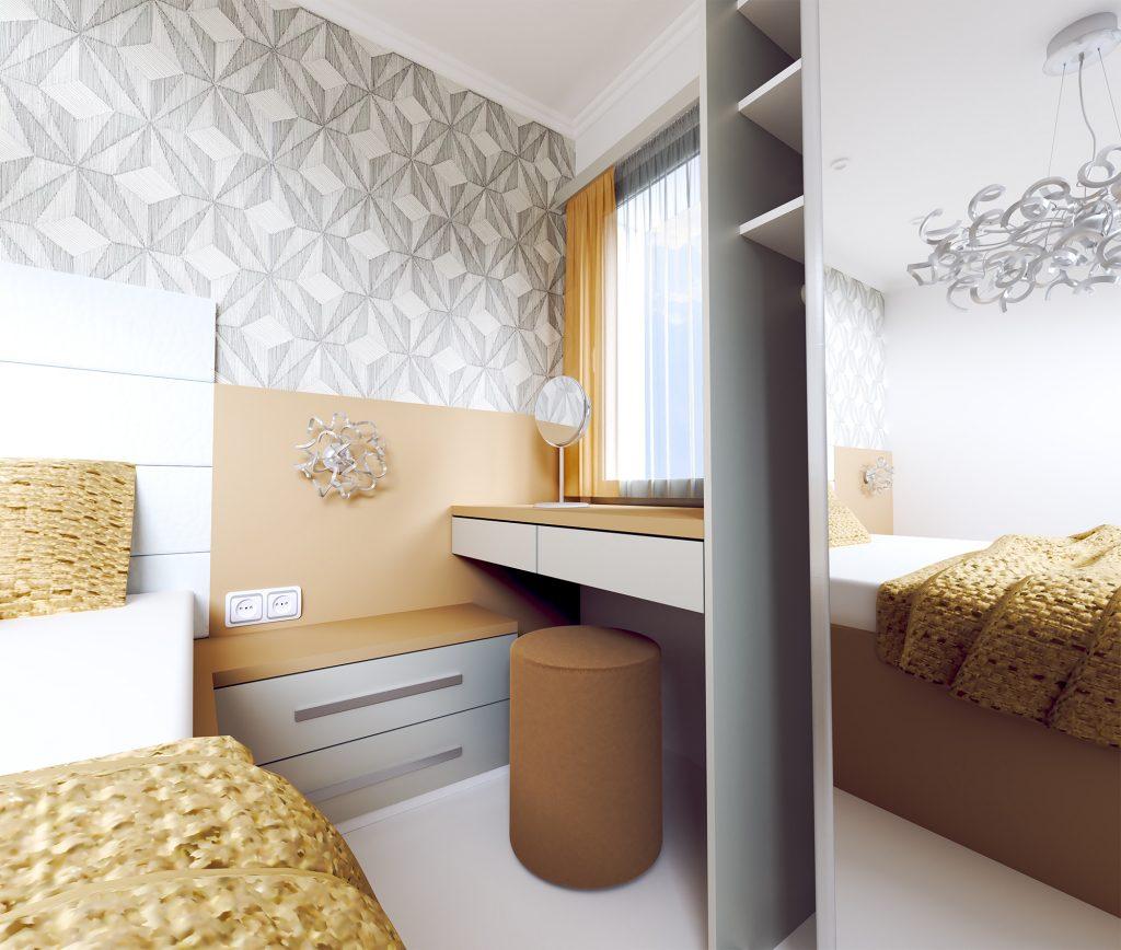 Návrh interiéru spálne s nádychom hotelovej atmosféry