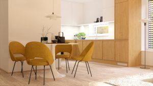 Jedáleň a kuchyňa na mieru rodinný dom Zamarovce