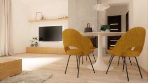 Jedáleň a obývacia izba na mieru rodinný dom Zamarovce