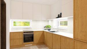 Kuchyňa svetlo na mieru rodinný dom Zamarovce