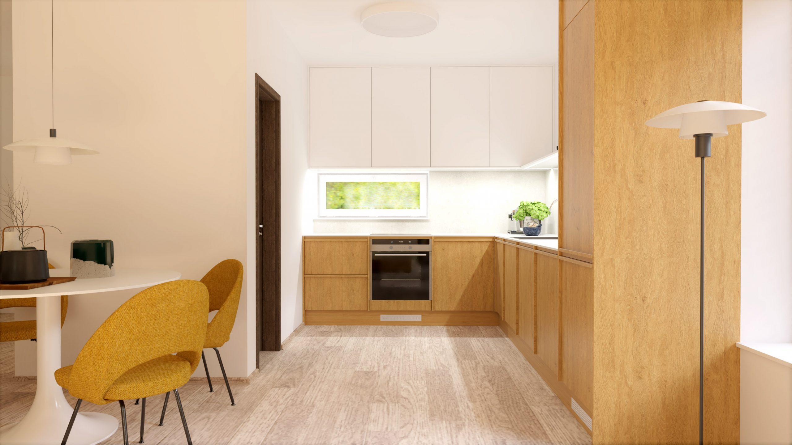 Návrh interiéru obývacej izby a kuchynskej linky na mieru do rodinného domu - Zamarovce