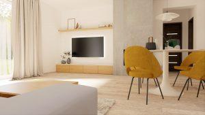 obývacia izba 2 na mieru rodinný dom Zamarovce
