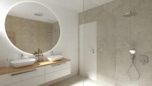 Návrh kúpelne so sprchovacím kútom