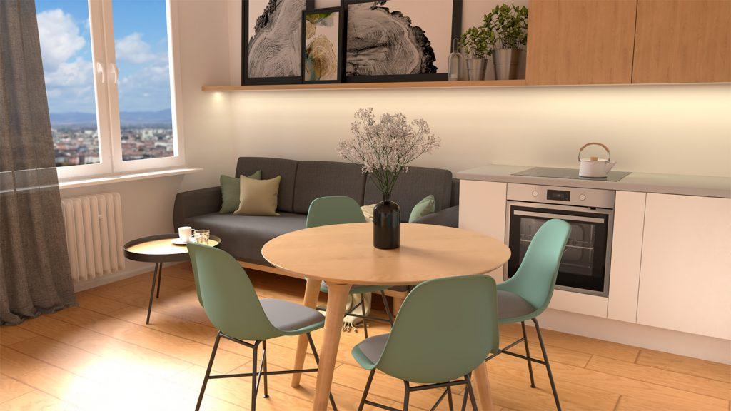 Návrh 2 izbového bytu na mieru - Nová Dubnica